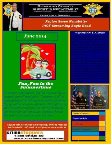 Region 7 Newsletter - Richland County Sheriff's Department