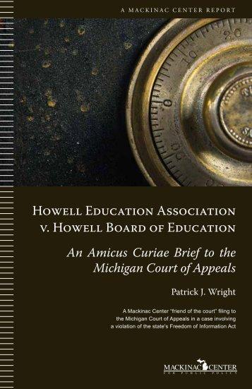 Howell Education Association v. Howell Board of ... - Mackinac Center