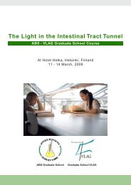 The Light in the Intestinal Tract Tunnel, 11-14 March 2009, Helsinki ...