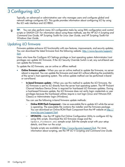 HP iLO 4 User Guide - BCDVideo