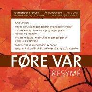 FØRE VAR - KoRus Bergen