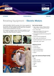 Rotating Equipment – Electric Motors - Weir Oil & Gas Division
