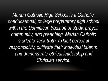 Grades - Marian Catholic High School