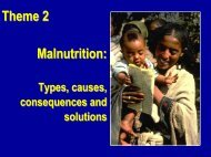 Theme 2 Malnutrition - Linkages Project