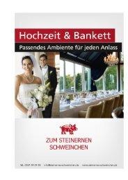 Hochzeits- und Bankettmappe 2013 - Zum Steinernen Schweinchen