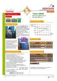 I-13 Tables AMSM Aspirantes Mécanique Soudage Manuel - Oerlikon