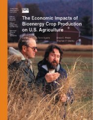 The Economic Impacts of Bioenergy Crop Production on US ...