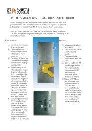 Catálogo de Puertas Españolas Cubells - Tecnologistica