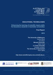 Elliott final report 2010 (PDF) - Office for Learning and Teaching