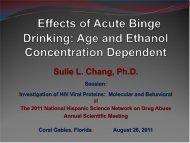 Effects of Acute Binge Drinking - National Hispanic Science Network