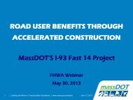 road user benefits through accelerated ... - FHWA Operations