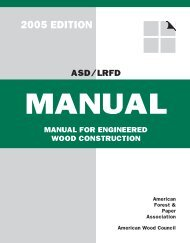 MANUAL FOR ENGINEERED WOOD CONStRUCtION - WoodWorks