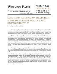 Download Executive Summary - Center for Retirement Research ...