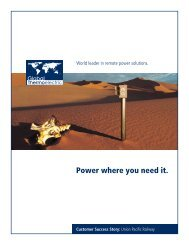 Power where you need it. - Global Thermoelectric