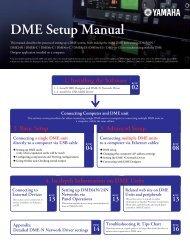 DME Setup Manual - Yamaha Commercial Audio