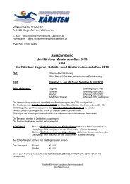 Kärntner Meisterschaft 2013 - SV Donau Chemie St.Veit an der Glan