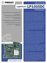 Emulex LP1005DC Data Sheet - SANDirect.com