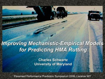 Improving Mechanistic-Empirical Models for Predicting HMA Rutting