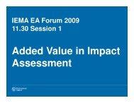Adding Value through Environmental Assessment - Joanne Murphy ...