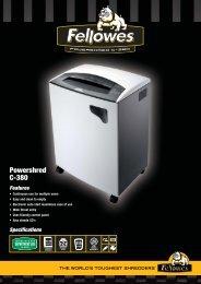 Fellowes C380 Brochure.pdf - TradeShredders.com