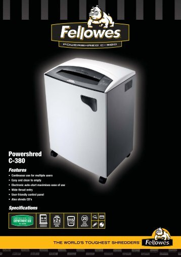 Fellowes C380 Brochure.pdf - TradeShredders.com