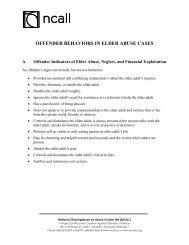 Offender Behaviors in Elder Abuse Cases - National Clearinghouse ...