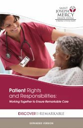 Patient Rights and Responsibilities: - St. Joseph Mercy Ann Arbor