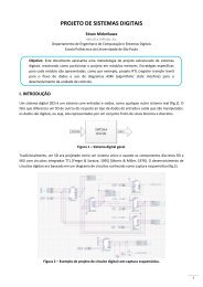PROJETO DE SISTEMAS DIGITAIS - PCS - USP