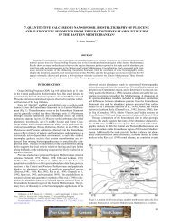 7. quantitative calcareous nannofossil biostratigraphy of ... - Ispra