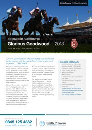 Glorious Goodwood   2013 - Keith Prowse