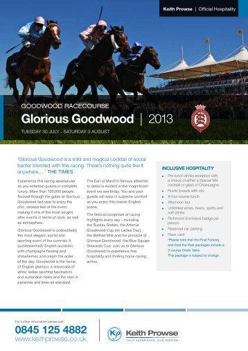 Glorious Goodwood | 2013 - Keith Prowse