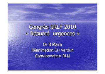 Congrès SRLF 2010 - COLMU