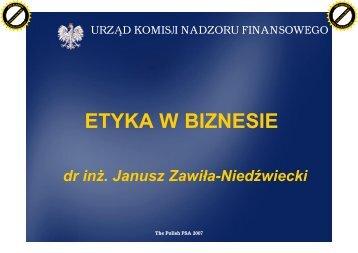 ETYKA W BIZNESIE - Komisja Nadzoru Finansowego