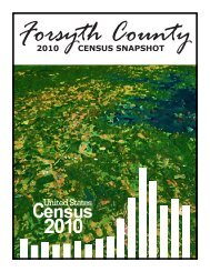 2010 CENSUS SNAPSHOT - Forsyth County Government