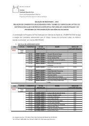 Seleção de Mestrado 2012 - Fiocruz