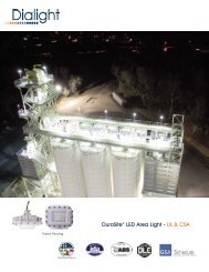 DuroSite® LED Area Light Datasheet - Dialight