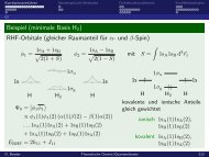 Beispiel (minimale Basis H2) RHF-Orbitale (gleicher Raumanteil für ...