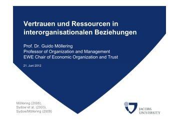 Vertrauen und Ressourcen in ... - Ressourcenkultur