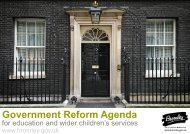Government reform for education and wider children's services