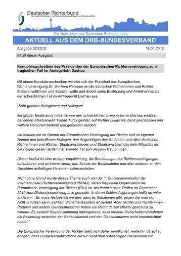 DRB-Stellungnahme Nr. 29/12 - Deutscher Richterbund