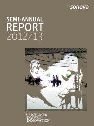 Semi-Annual Report 2012/13 - Sonova