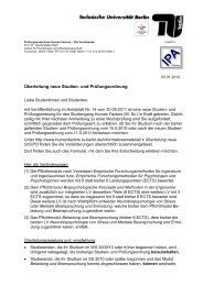 Infobrief (PDF, 63,7 KB) - Human Factors - TU Berlin