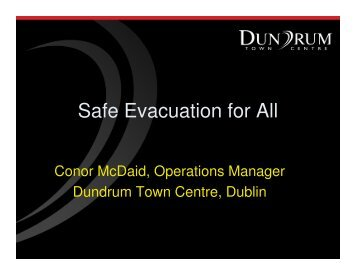 Safe Evacuation for All - The National Disability Authority