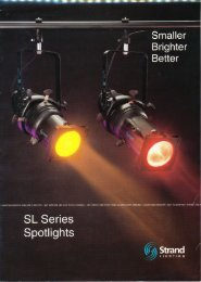 SL Series brochure - The Strand Archive