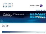 Alcatel-Lucent Enterprise Forum 2009