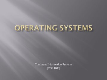 Operating Systems - Tiona Consulting