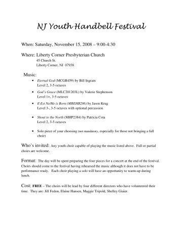 NJ Youth Handbell Festival - Handbell Musicians of America Area 2