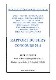 BANQUE D'EPREUVES DUT-BTS - Concours ATS - ENSEA