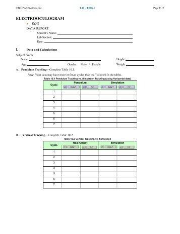 Lesson 10 Data Report - Biopac
