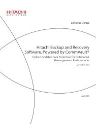 Hitachi Backup and Recovery Software ... - Hitachi Data Systems